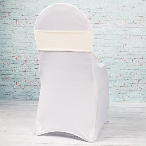 Richland Ivory Spandex Chair Band Set of 10