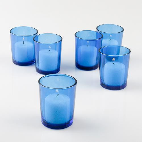 votive colored holders set 12