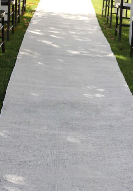 white burlap aisle runner 36 x 100ft