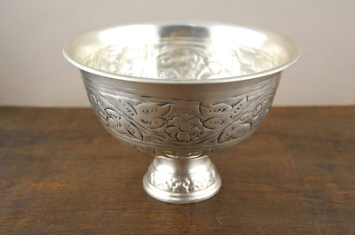 Silver Plated Antique Compote 6x8