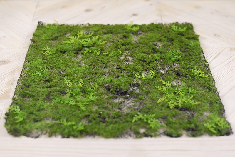 Artificial Moss & Fern Place Mat 20in