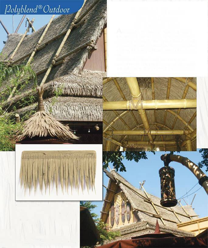 uv proof outdoor artificial thatch shingle 19 x11 tiki bar decorations