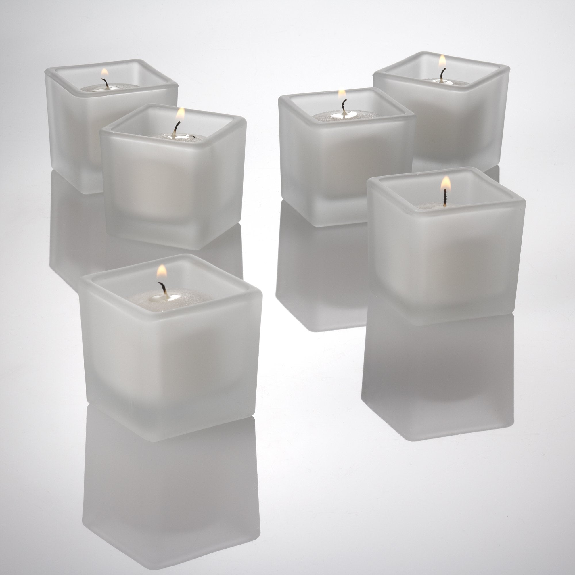 eastland square votive candle holder frosted set of 36