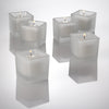 eastland square votive candle holder frosted set of 144
