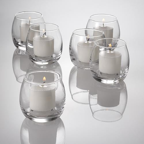 eastland petite hurricane votive candle holder set of 12