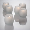 eastland petite hurricane votive candle holder frosted set of 12