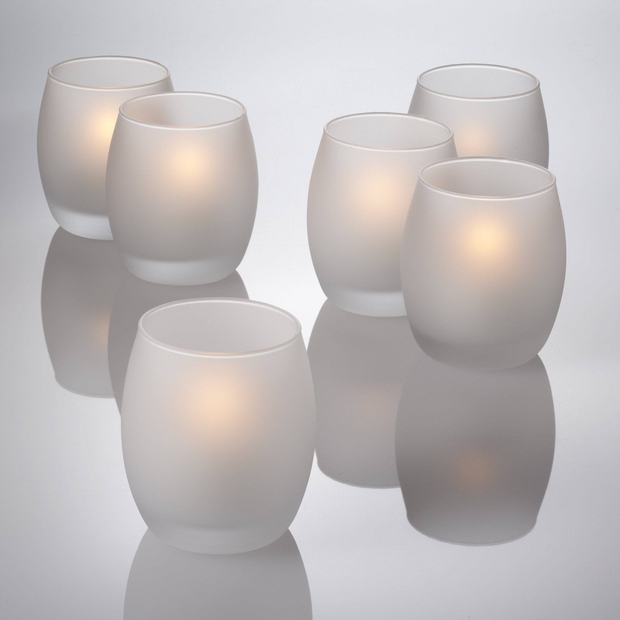 eastland grande hurricane votive candle holder frosted set of 48