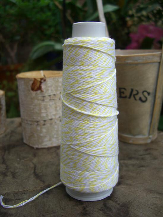 Bakers Twine Yellow & White 100 yds