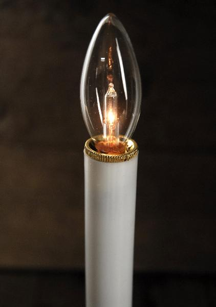 battery operated candle lamp 9 inch brass