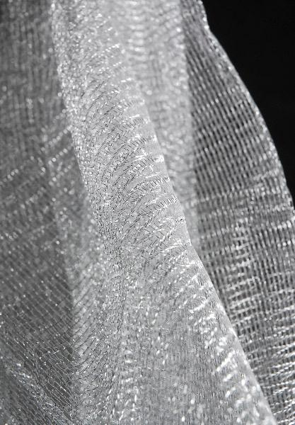 metallic silver tulle netting 32 x 3 yds