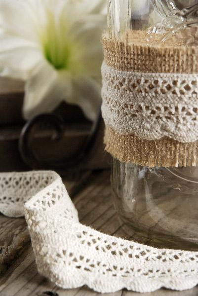ivory cotton crochet ribbon 1 25 x 10 yards