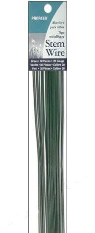 Florist Stem Wire (360 pieces) 20 Gauge GREEN