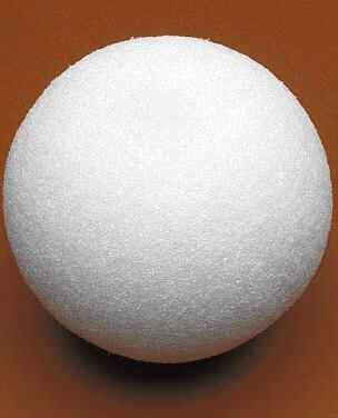 FloraCraft Styrofoam Shrink Wrapped Solid Ball, 12-Inch, White