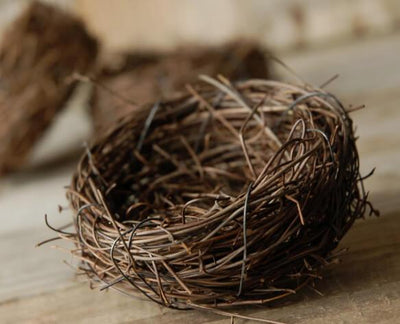 9 - 3 Inch Natural Twig Tiny Bird Nests, Bulk Buy