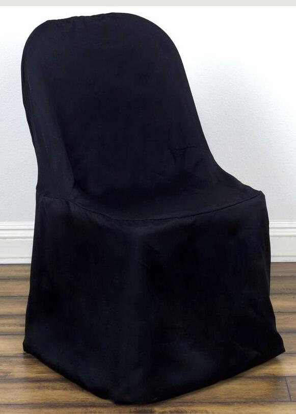 folding chair cover black