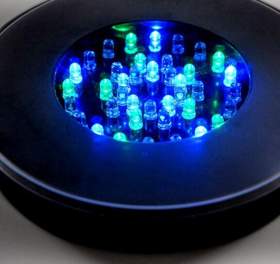 super bright 40 led light base 6 1 4 diameter 1 height multi color black body