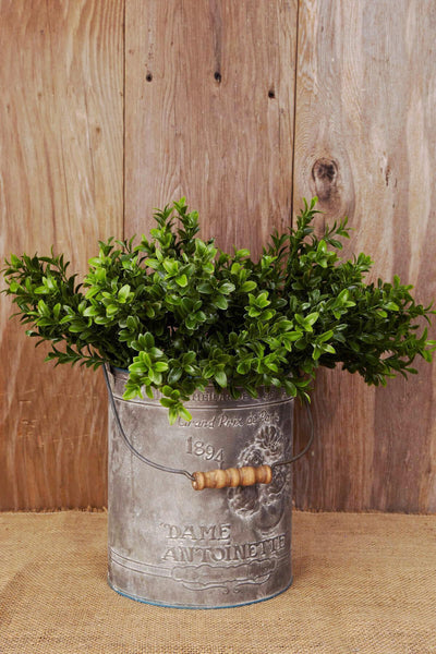 6 Artificial Boxwood Sprays  Green 18in