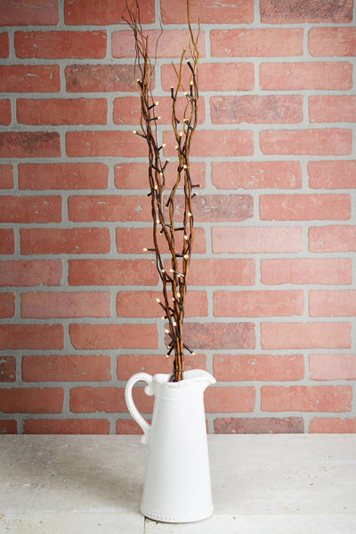 5 battery operated natural willow lighted branches warm white 39 tall