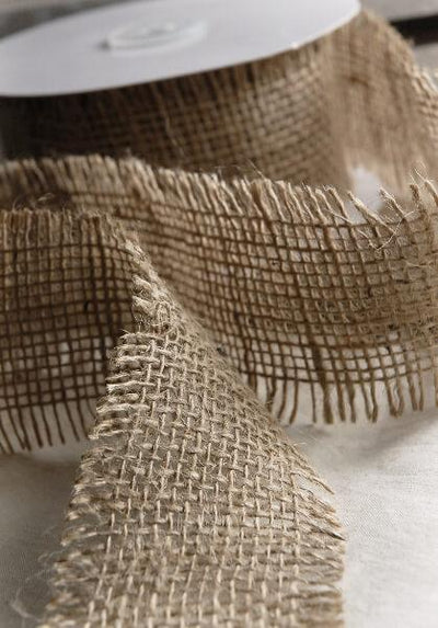 natural burlap ribbon 2 5in x 10yds