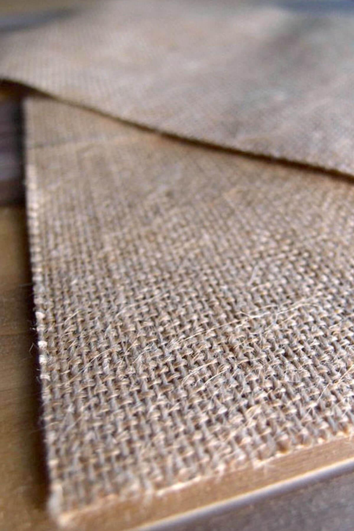 6 burlap laminated craft sheets 8 5x 11
