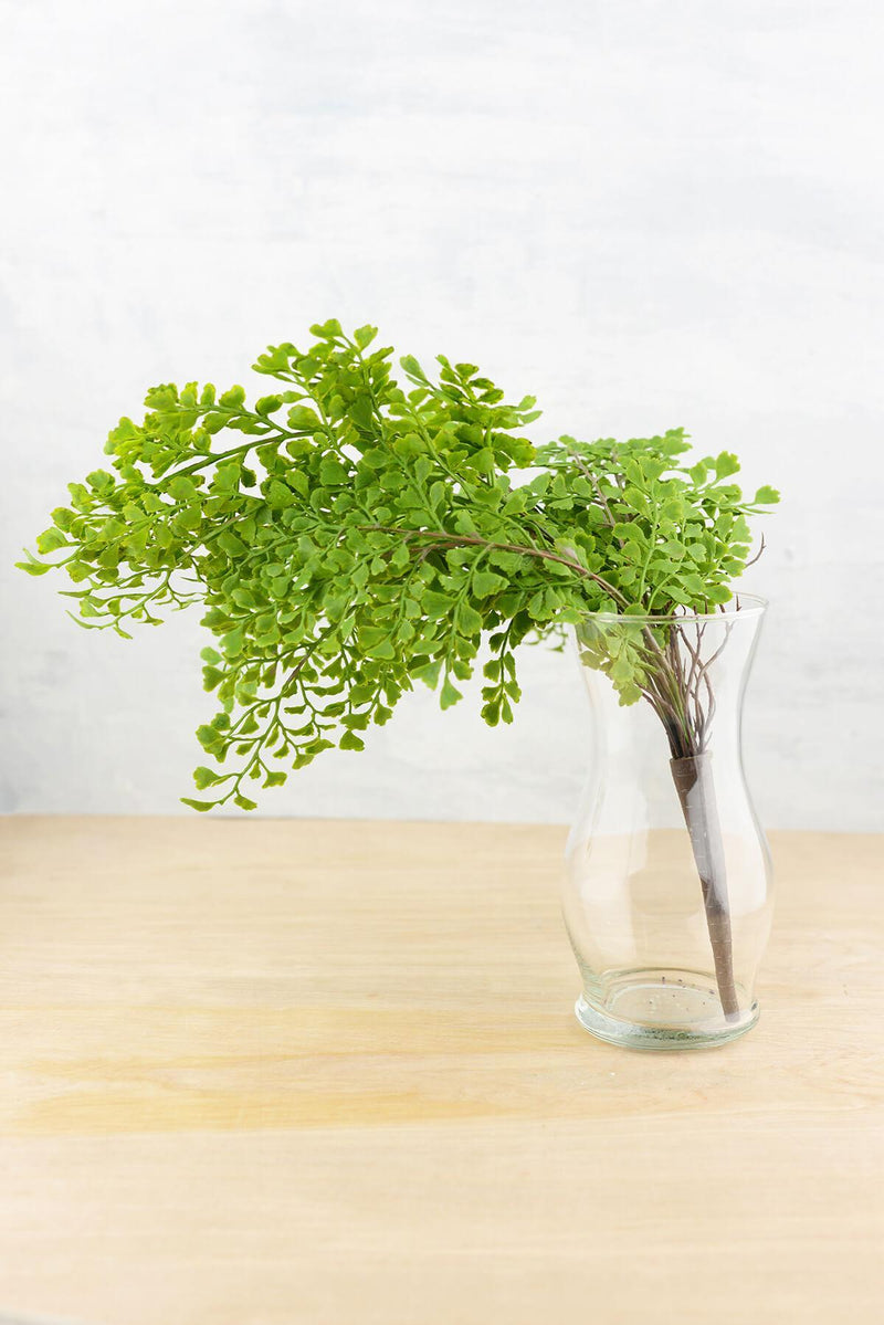 Artificial Maidenhair Fern Bush 18""