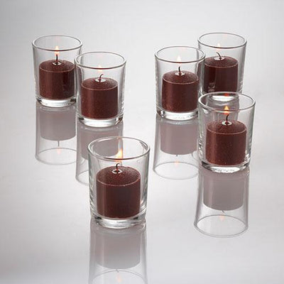 richland votive candles brown cinnamon bun scented 10 hour set of 144