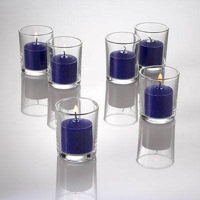 richland votive candles unscented navy blue 10 hour set of 12