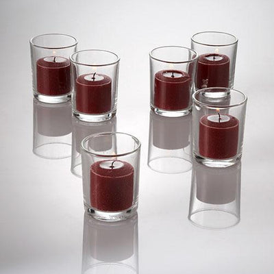 richland votive candles red apple cinnamon scented 10 hour set of 72