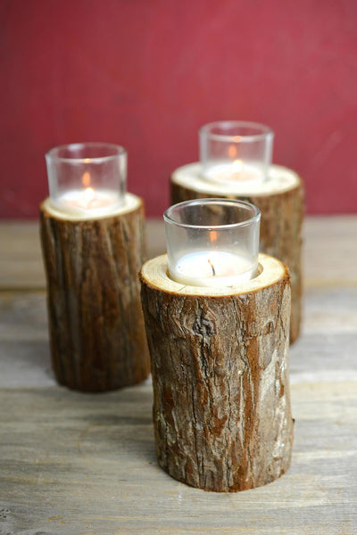 tree branch votive candle holder