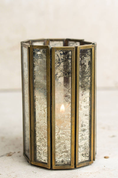 Glass Paneled 4.5in Virtue Candleholder