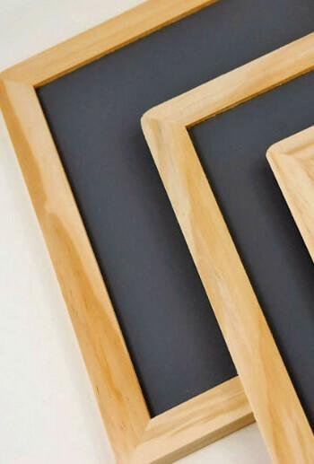 wood framed chalkboards 7x10 pack of 6
