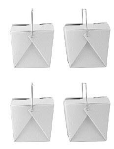 50 White Chinese Takeout Boxes 8oz