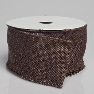 richland burlap ribbon with wire chocolate brown 2 5 x 10 yards