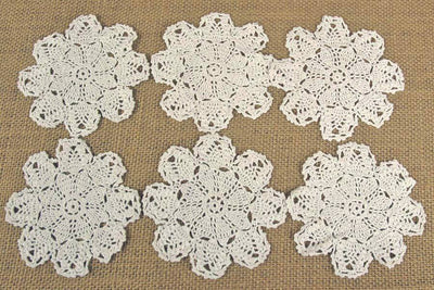 12 pineapple crochet doilies 4 size