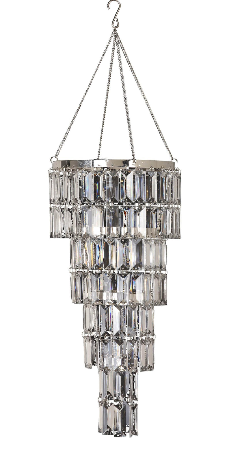 Crystal Chandelier, Round 17in, with lighting kit