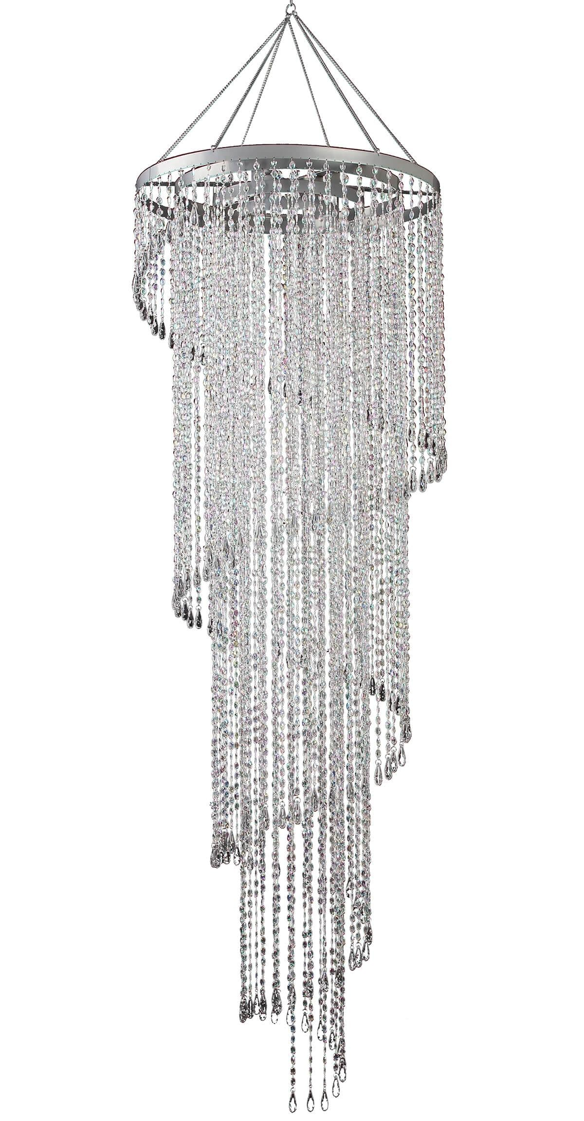 Crystal Chandelier, Round 24in x 72in, with lighting kit