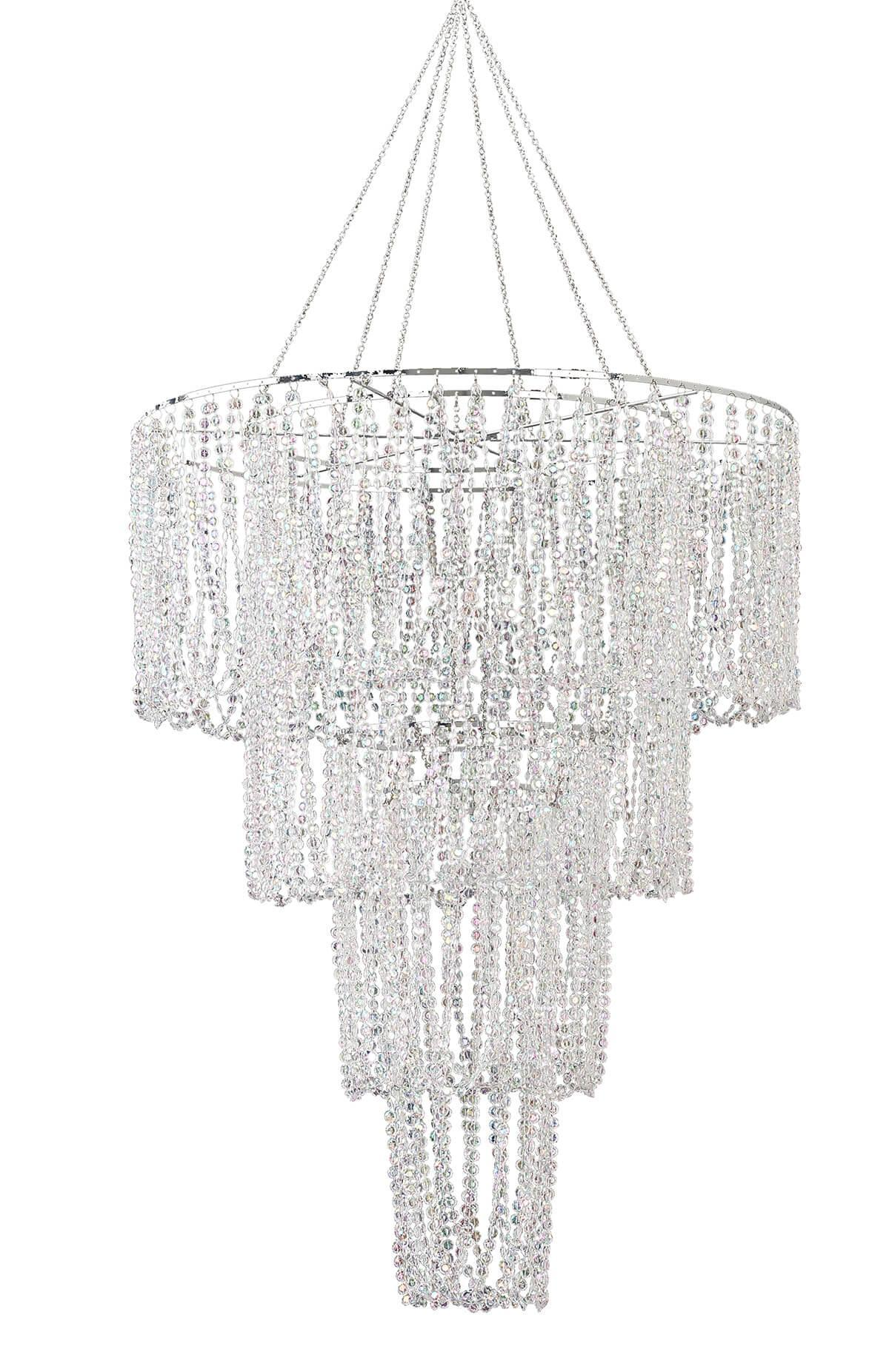 "Crystal Chandelier 31"" Four Tier Includes Lighting Kit"