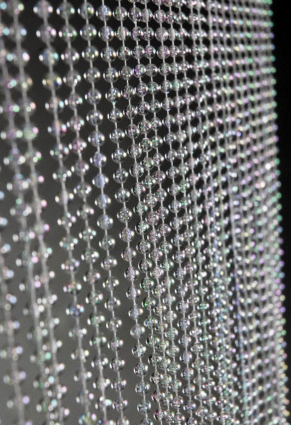 Iridescent Crystal Garland Curtain 6ft x 36in