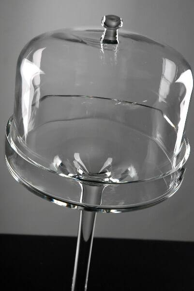 16 dessert stand glass cloche dome