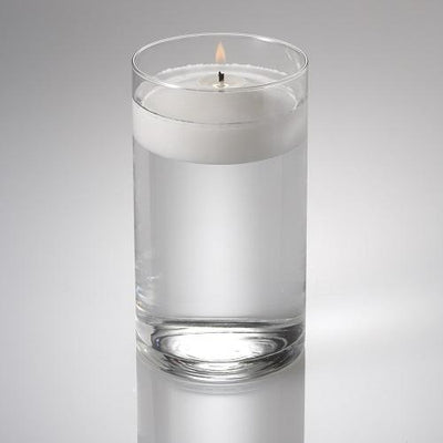 eastland cylinder floating candle holder 3 25 x6 set of 12