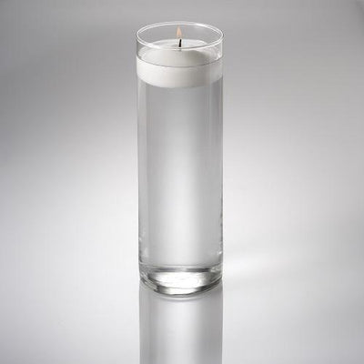 eastland cylinder floating candle holder 3 25 x10 5 set of 12