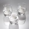 "Eastland Grande Hurricane Holders & Richland Floating Candles 2"" Set of 72"
