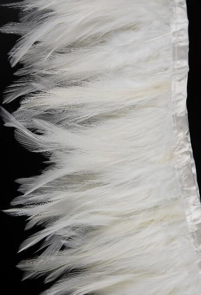 white rooster feather hackle 5 x 2yds