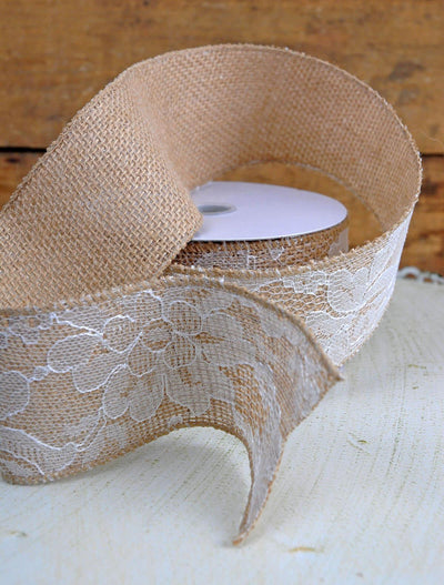 floral lace applique ribbon 2 5in x 10yd