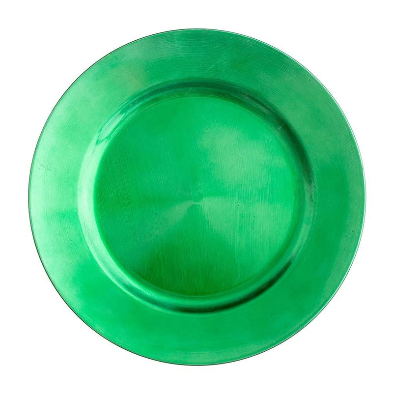 "Richland Plain Charger Plate 13"" Forest Green Set of 12"