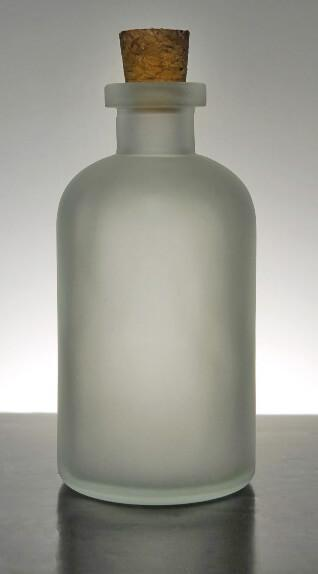 Frosted Glass 8oz Apothecary Bottles Cork Tops