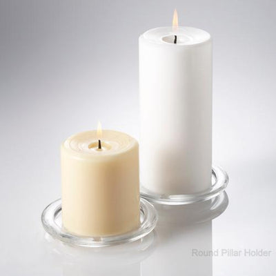 eastland pillar candle holder glass set of 36