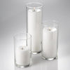 eastland cylinder pillar candle holders 6 7 5 10 5 set of 3