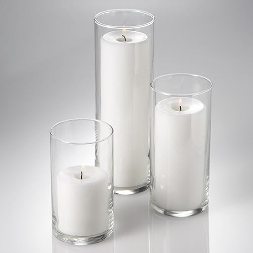 "Eastland Cylinder Pillar Candle Holders 6"" , 7.5"" & 10.5"" Set of 3"