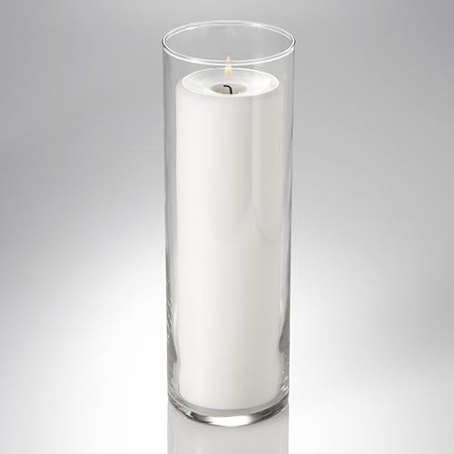 "Richland Pillar Candle 9"" & Eastland Cylinder Holder 10.5 inch Set of 12"